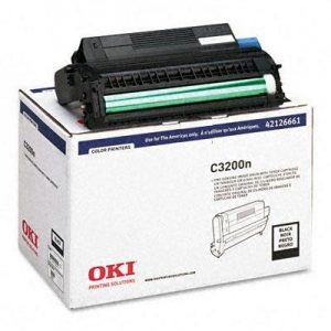 OKI C3200n Black Image Drum ships w/ one toner - Type C6