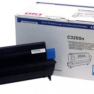 OKI C3200n Cyan Image Drum ships w/ one toner - Type C6