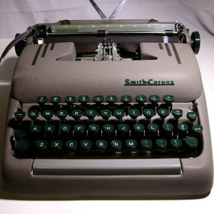Smith Corona Silent Portable typewriter with case